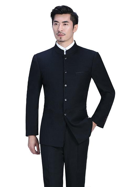 黑色中山装工服
