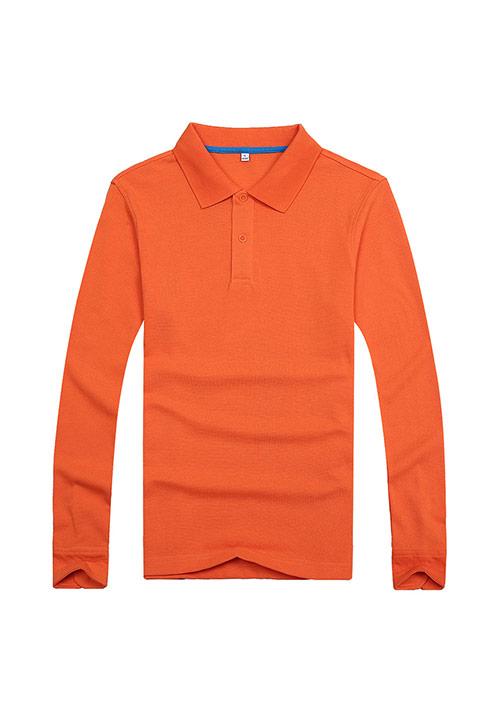 桔色文化衫