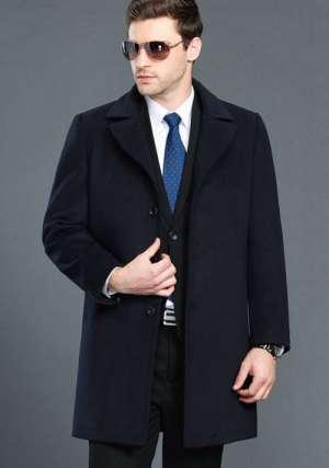 藏蓝大衣男士制服
