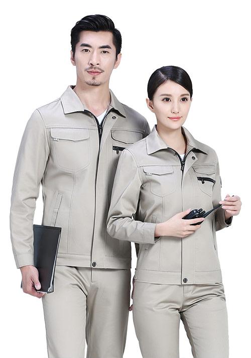 卡其日式工服